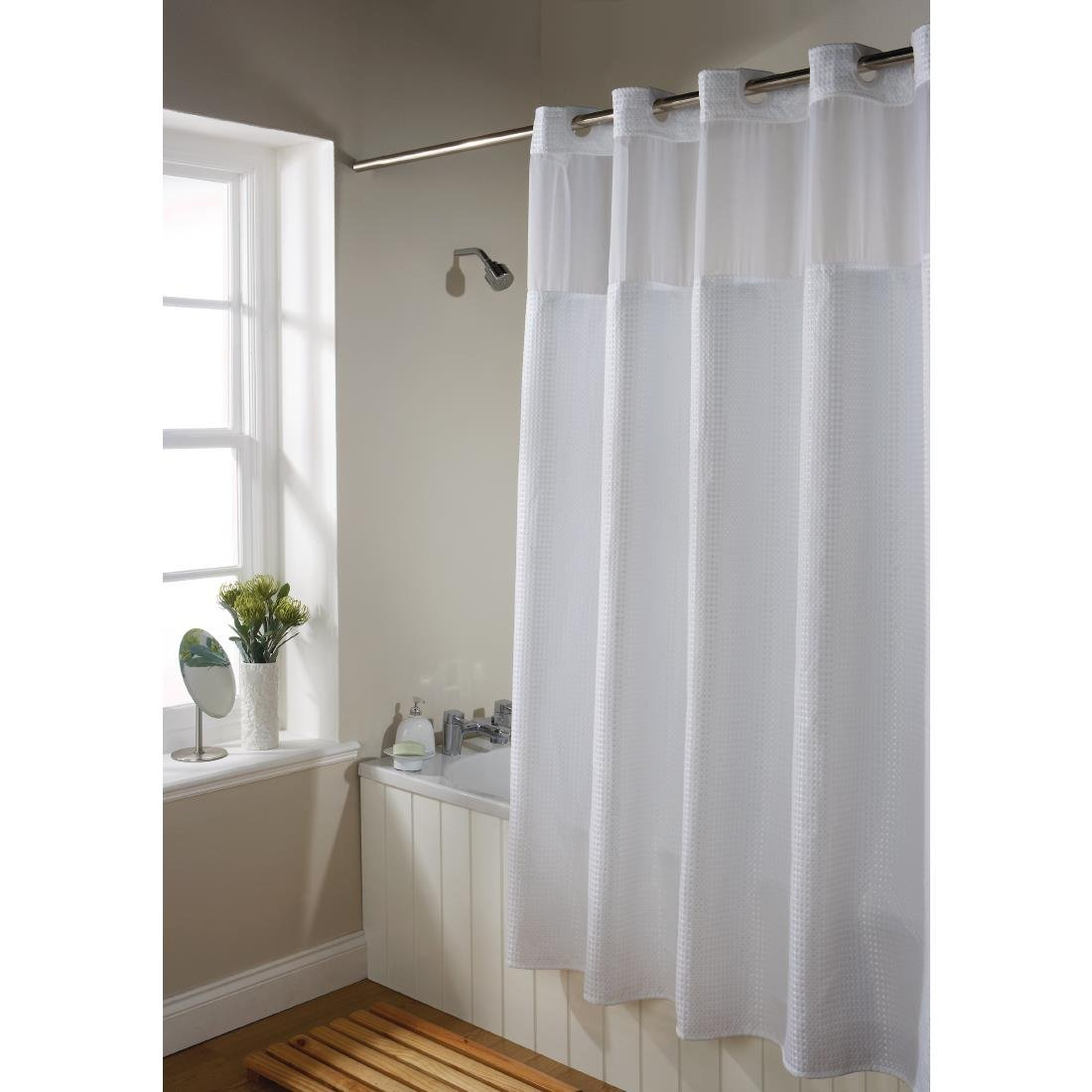 Backing Skirt For Luxury Ultra Waffle Shower Curtain